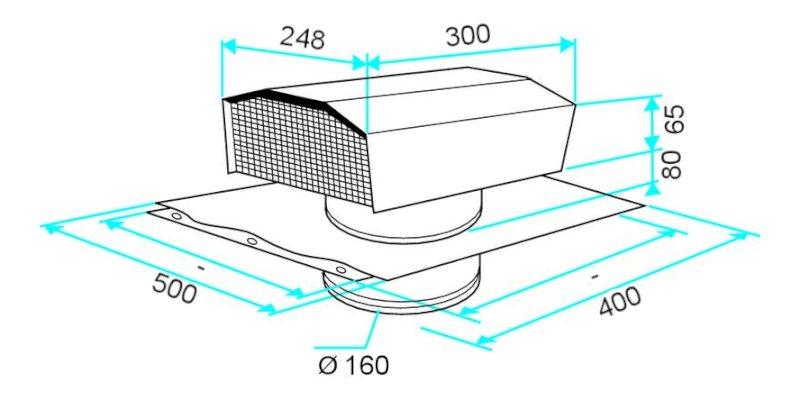sortie chati re de toiture 125 mm aldes accessoires et r seau. Black Bedroom Furniture Sets. Home Design Ideas