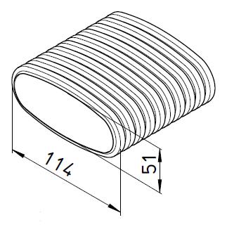 frs vd 51 helios bouchon de gaine plate femelle flexpipe. Black Bedroom Furniture Sets. Home Design Ideas