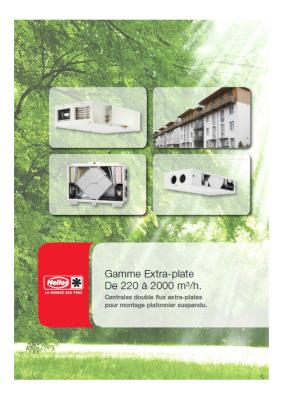 vmc double flux documentation centrales gamme extra. Black Bedroom Furniture Sets. Home Design Ideas