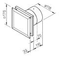 minivent m1 100 120 helios mini ventilateur compact encastrer. Black Bedroom Furniture Sets. Home Design Ideas