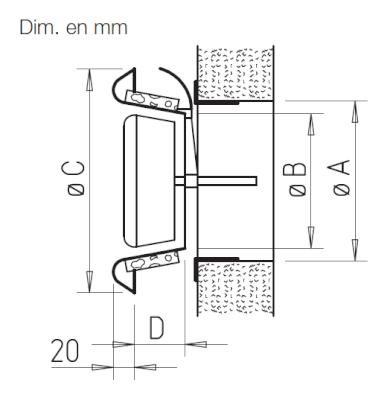 ktva helios bouche d 39 extraction en plastique r glable. Black Bedroom Furniture Sets. Home Design Ideas
